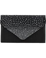 Abby Diamante Envelope style Clutch Bag -- SwankySwans