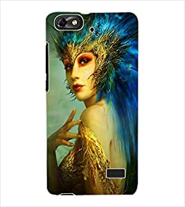 ColourCraft Fantasy Girl Design Back Case Cover for HUAWEI HONOR 4C