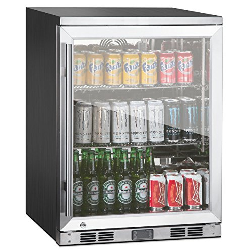 1-Door Front Venting Full Stainless Steel Bar Fridge by Kingsbottle (Stainless Steel Bar Fridge compare prices)