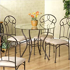 Hanson Set of 4 Dinette Chairs in Antique Bronze