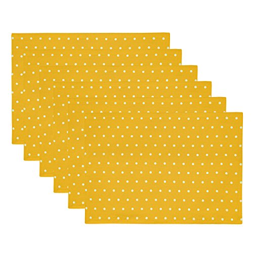 Rose Tree Sparkles Placemats, Yellow, 6-Pack