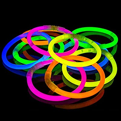 100 Pack Premium Glowhouse Glow Stick Bracelets (Mixed)