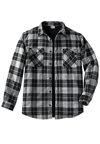 Kingsize Men's Big & Tall Plaid Flannel Work Shirt Jacket 5CL