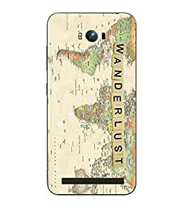 Snazzy Wanderlust Printed Multicolor Hard Back Cover For Asus Zephone Max