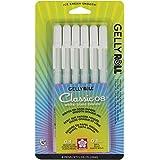 Sakura 57488 6-Piece Gelly Roll Classic-08 Gel Pen Set, Medium, White