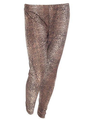 Plus Size Sexy Leopard Cheetah Print Tight Skinny Stretch Legging Pant - Brown