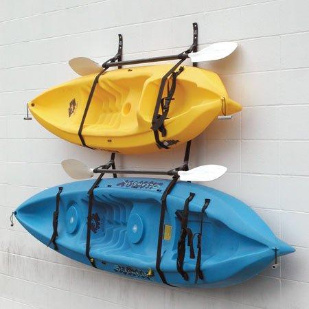Webbing Boat Hanger Strap - Set of 2, kayak wall hanger, SUP wall hanger, kayak hanger, canoe hanger, surfboard hanger, garage hanger, kayak wall rack hanger adjustable (Outdoor Wood Kayak Rack compare prices)