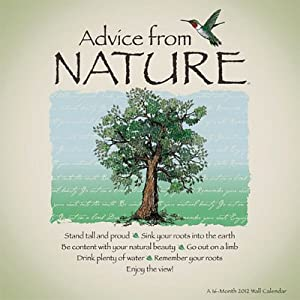 Amazon.com: (12x12) Advice from Nature 16-Month 2012 Linen Wall