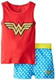 Intimo Girls 2-6X Wonderwoman Tank Top Pajama Set