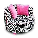 Newco Kids Redondo Chair, Minky Zebra