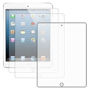 ebestStar - Pour Tablette Apple IPAD 4 / RETINA / iPAD 3 / Nouvel iPAD / iPAD 2 - Lot de 3 FILM Protecteur ANTI EMPREINTE, Anti Traces De Doigts et Anti Reflets / protection d'écran tactile, LCD, cristal, transparent légèrement MATE, effet granuleux avec chiffonnette (microfibre / chiffon)