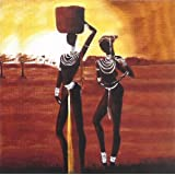 "Dolls Of India ""African Couple"" Reprint On Card Paper - Unframed (15.88 X 15.88 Centimeters)"