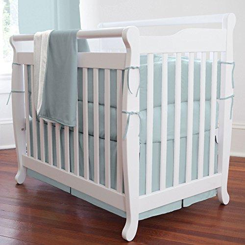Carousel Designs Solid Robin's Egg Blue Mini Crib Bumper (Carousel Crib Bumper compare prices)