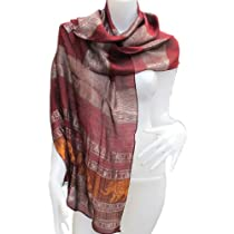 """HelloBangkok"" BIG ELEPHANT BIG POWER REALY NICE & LOVELY Scarf Shawl Pashmina Wrap Throw - Over 1000 beautiful colours to choose from (Approx. 20"" x 75"" (70% Cotton/30% Polyester) HandWash This fashionable pashmina scarf, wrap or shawl is the perfect finishing touch to almost any outfit."