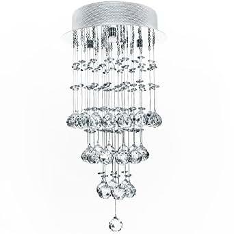 Kristall Deckenleuchte Hängeleuchte Ø 25cm 1x GU10, max 50W