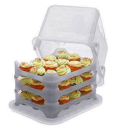 1 X Cupcake Courier Cupcake Caddy - Holds 36 - White