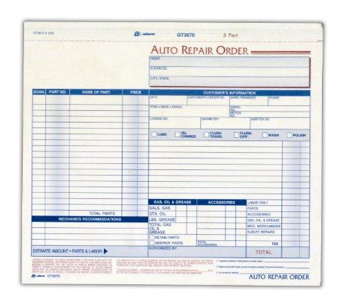 adams auto repair form inch part product
