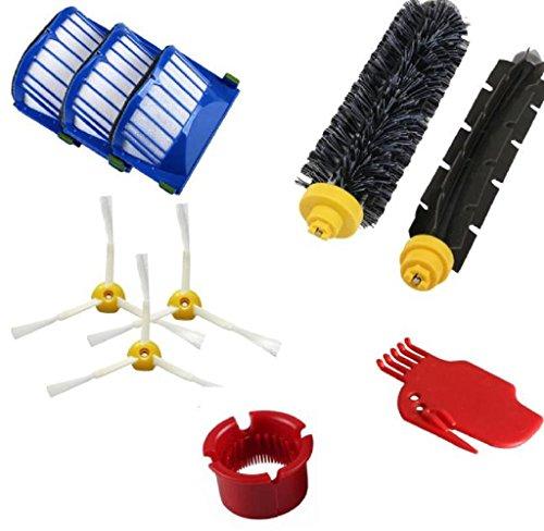 Hipzop Accessoire pour iRobot Roomba 600 610 620 650 Series Vacuum Kit de pièce de rechange Cleaner