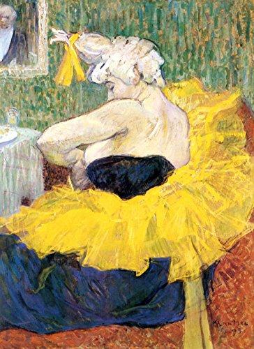 "Il museo Outlet-Clowness Cha U Kao di Toulouse-Lautrec-Tela (60,96 x 45,72 (24"") x 18 cm)"