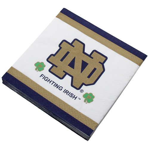 Mayflower Distributing Company 24 Count University of Notre Dame Beverage Napkin, Multicolor