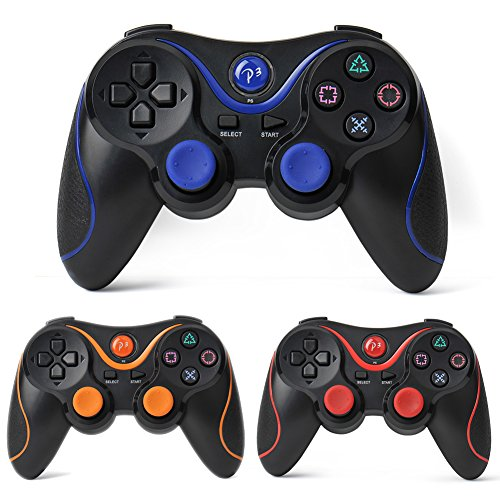 Black Wireless Controller Bluetooth Gamepad Ps3 Controller