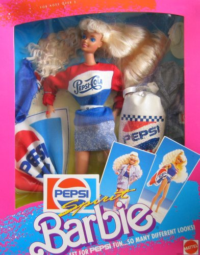 Barbie Pepsi Spirit Set For Pepsi Fun...So Many Different Looks! (1989)