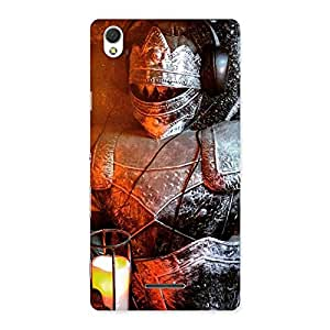 Stylish Knight Warrior Multicolor Back Case Cover for Sony Xperia T3