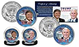 DONALD TRUMP & MIKE PENCE REPUBLICAN PRESIDENT 2016 JFK HALF DOLLAR 2 COIN SET!
