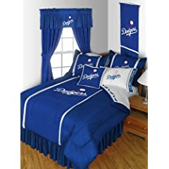 MLB Los Angeles Dodgers Baseball Team 7pc Queen Bedding Set by MLB