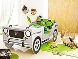 Autobett Jeep inkl. Rollrost 90*200 cm Kinderbett Safari Geländewagen Dschungel