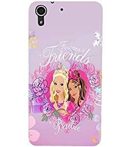 PrintDhaba Forever Friends D-1077 Back Case Cover for HTC DESIRE 728 (Multi-Coloured)