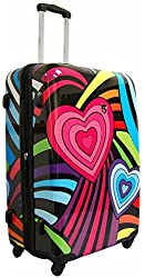 "Heys USA Novus Art Hearts Rainbow 30"" Spinner"