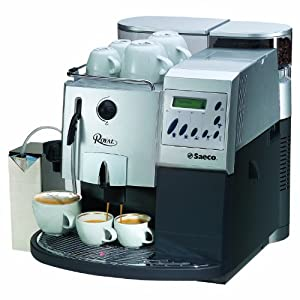Saeco Royal Coffee Bar Automatic Espresso Machine, Silver and Graphite