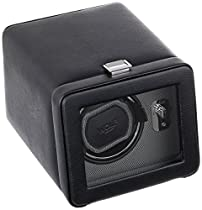 Wolf Designs 4525029 Module 2.5 Single Black Watch Winder with Cover