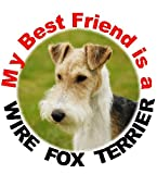 2 Wire Fox Terrier Car Stickers My Best Friend