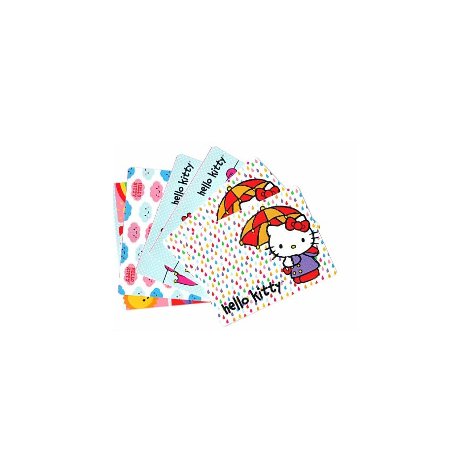 Set of 6 Hello Kitty Blank Note Cards with 6 White Envelopes