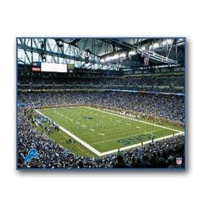 NFL Detroit Lions Stadium 22x28 Canvas Art by Pangea Brands