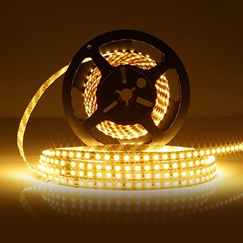 LEDMO® SMD2835 600LEDs Warm White Led Strip, Non-waterproof Warm White 3000K, 16.4Ft DC12V, 15Lm/LED, 3 times brightness than SMD 3528 LED Light Strip, LED Ribbon, LED Strip Light (Ribbon With Led Lights compare prices)