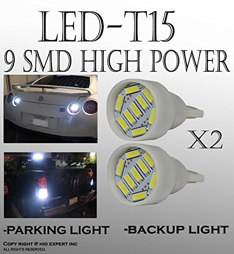 x4 White T15 906 579 901 908 9 LED Super Bright 9-SMD LED Parking Light Bulbs (1999 Mazda Protege Accessories compare prices)