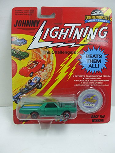 Johnny Lightning The Challengers El Camino Green W/Surfboards Die Cast Vehicle - 1