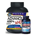 Advance 100% Whey Protein 2kg Vanilla & Advance Creatine Monohydrate 300gm Unflavoured Combo Offer