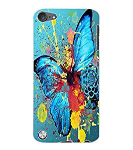 ColourCraft Colourful Butterfly Design Back Case Cover for APPLE IPOD TOUCH 5