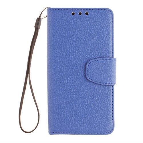 Cozy Hut Samsung Galaxy A7 Bookstyle Étui Bleu Housse en Cuir Case à rabat pour Samsung Galaxy A7 Coque de protection Portefeuille TPU Case - Bleu