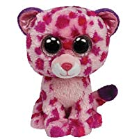 Ty Beanie Boos Glamour Leopard Plush, Pink by Ty Beanie Boos