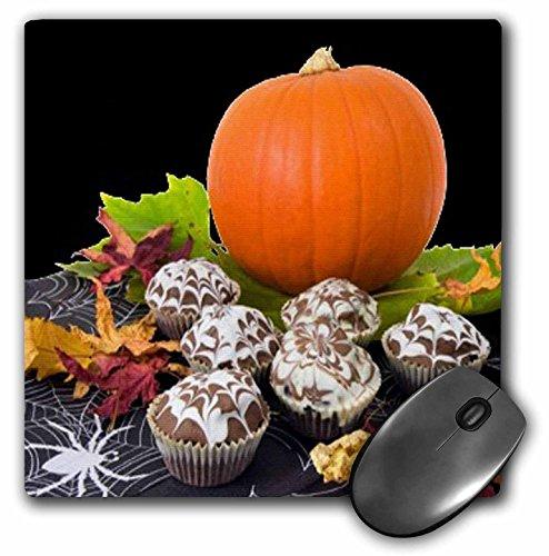 Sandy Mertens Halloween Food Designs - Pumpkin and Cupcakes - MousePad (mp_6023_1) (Halloween Pumpkin Cupcakes Pictures)