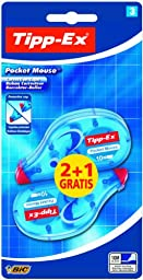 Tipp-Ex Pocket Mouse Correction Tape (Value Pack of 2, Plus 1 Free)