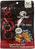 Wellness CORE Natural Grain Free Protein Bars Dog Treats Made in USA Only, Beef & Bison with Blueberries, 5.5-Ounce