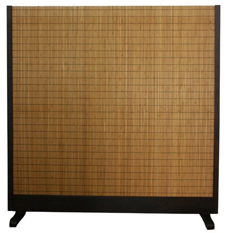 Oriental Furniture Extra Large Size Divide, 76-Inch Tall Take Japanese Style Single Panel Partition Room Divider, Brown