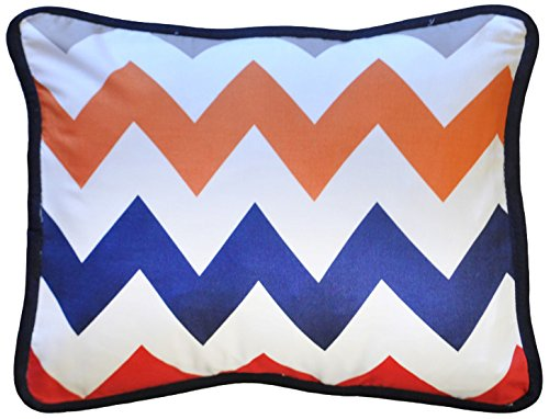 New Arrivals Accent Pillow, Zig Zag in Rugby