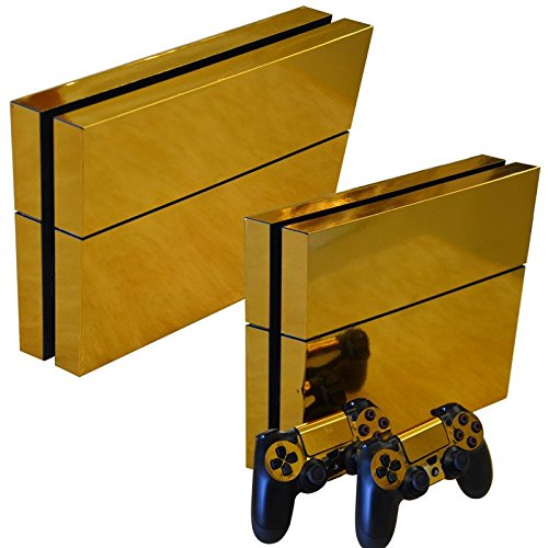 Gam3Gear Vinyl Sticker Pattern Decals Skin for PS4 Console & Controller- Gold (Gold Controller compare prices)